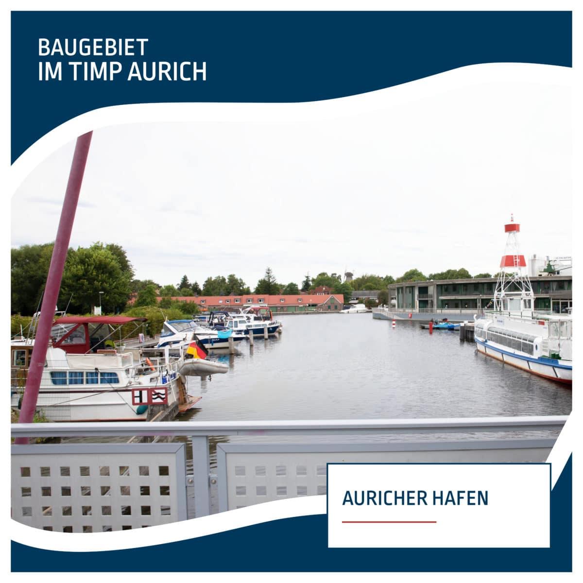 Blick auf den Auricher Hafen