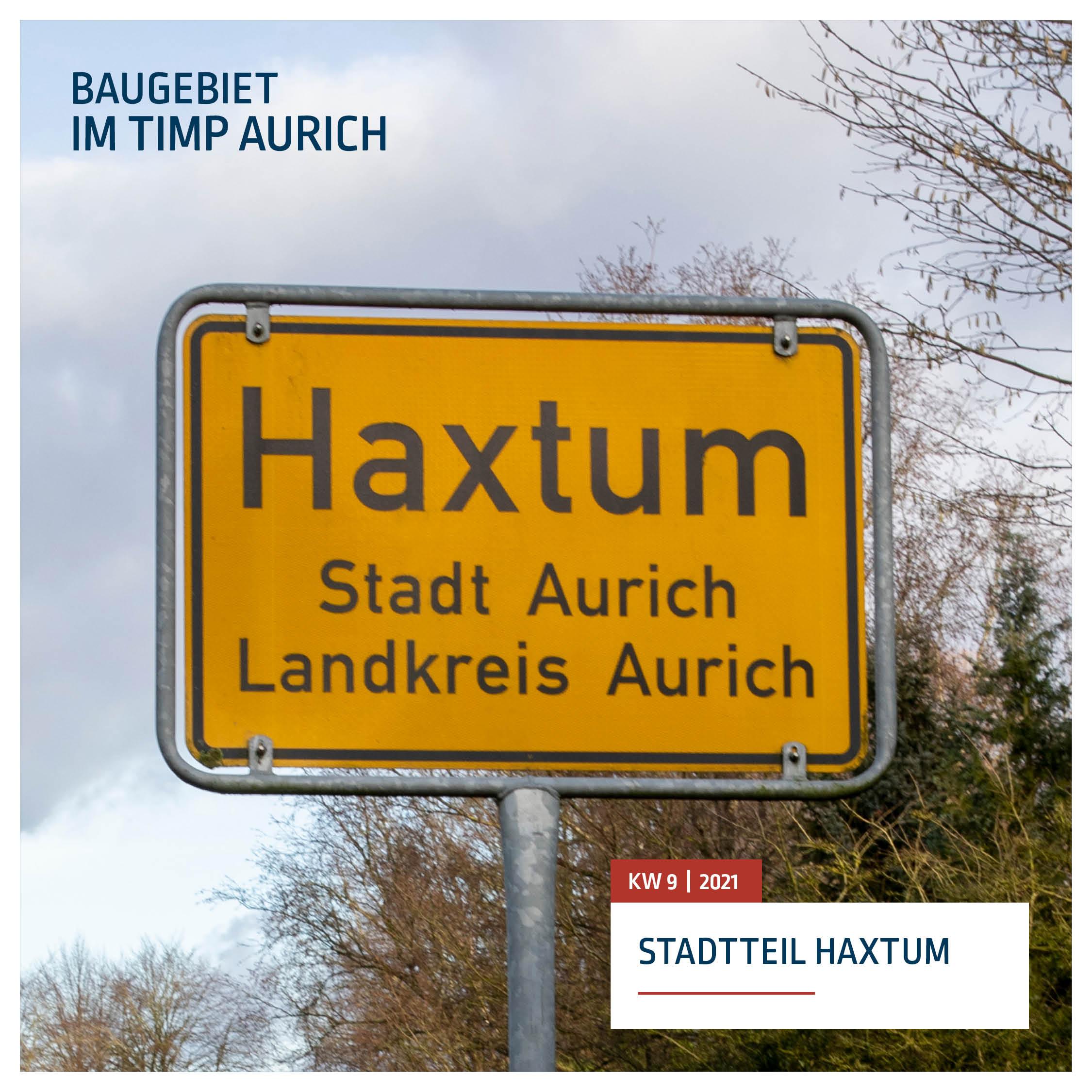 Ortsschild Haxtum - Stadt Aurich